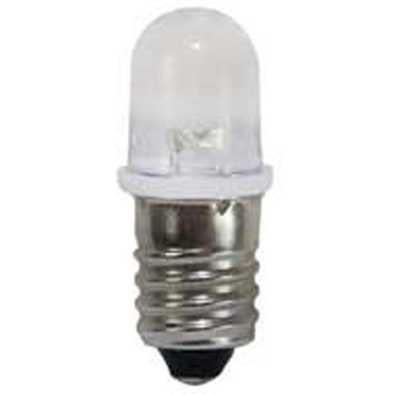 lampada led e10 bianca, 21°, 8300k, 12v, 2.5lm,20ma, 29x12mm