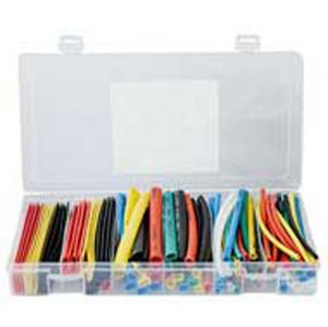 Kit GUAINA TERMORESTRINGENTE MULTICOLORE DIAMETRI 2-3-5-6-8-10mm (100pz da 10cm) - cod. 80.22111K